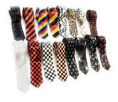 Mens Womans Skinny Neck Tie Slim Ties Fancy Dress Novelty Party Gift 2