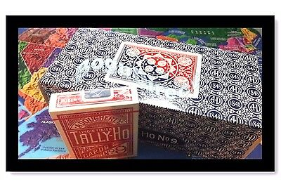 TALLY HO #9 Playing Cards Single Deck Fan BacK Original Red or Blue