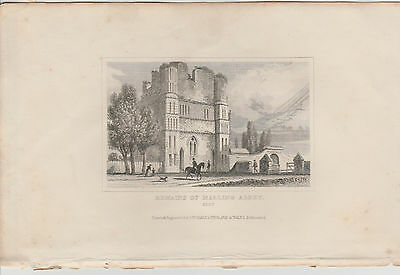1846 Six Antique Prints- KENT -Dartford, Dover, Northfleet, Gravesend, Penshurst 7
