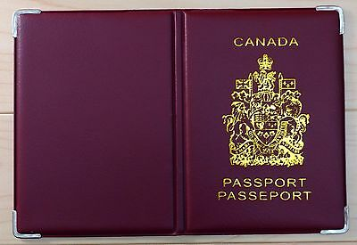 Canadian Canada Plastic Vinyl Passport Cover Protector Holder Sleeve - Red 8