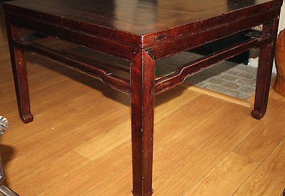 Antique Chinese Table Wood 18Th Century Kang Table 3