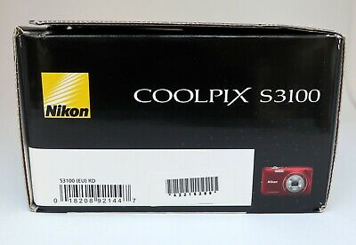 NIKON COOLPIX S3100 14mp 4,6-23,0mm. Wide 5x zoom Nikkor HD movie 2,7-in LCD VR 12