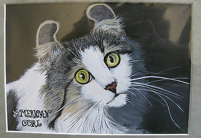 """C226    Original Acrylic Painting By Ljh  """"Meo & Tia""""  Siamese  Cat 11"""