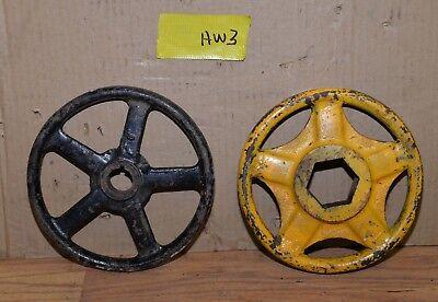"2 Kennedy valve & Powell hand wheel industrial 8"" diameter steam punk HW3 4"