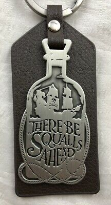 Disney Parks Pirates of the Caribbean There Be Squalls Ahead Keychain Vinyl NEW 3