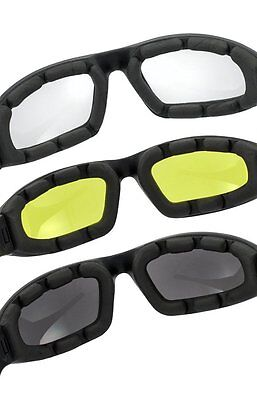 03d42dbce1 ... 3 Pair Motorcycle Riding Glasses Smoke Clear Yellow For Harley Davidson  2