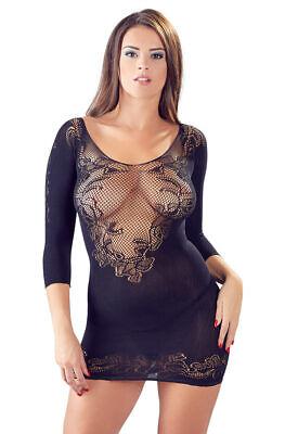 """Damen Kleid Netzkleid S M L 1/2 Arm Spitze String nahtlos Netz Reizwäsche """"Mitzi 2"""