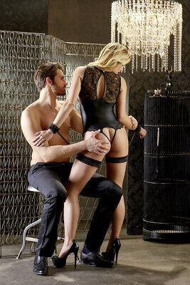 Fetish Sexy Body senza coppe con reggicalze e manette Cottelli Bondage Lingerie 2