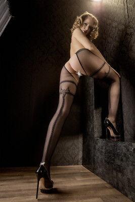 Collant aperto a rete nero Ryan Cottelli Sexx Toys Lingerie Intimo erotic Calze