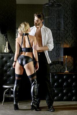 Sexy Completo intimo reggicalze e manette Cottelli Bondage Lingerie Fetish Hot 2