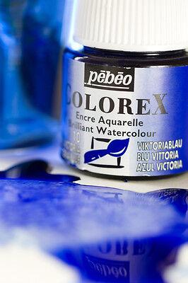 Pebeo colorex Manga 10er-Set x 20ml Flüßigkeit Aquarell Tinte Farben + 3