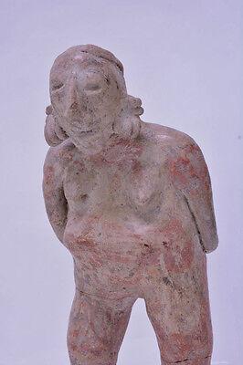 "Large Fine Pre-Columbian Pottery Figure  9 1/2"" x 5"" x 3"" 10"