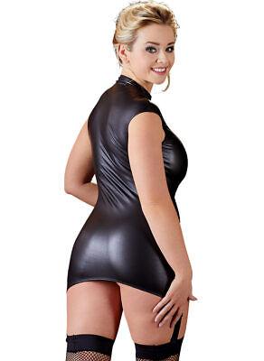"Wetlook Straps-Kleid 44 46 L Zip Minikleid Dessous Reizwäsche ""Juanitai"" 3"
