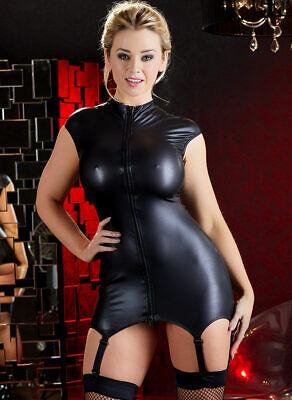 "Wetlook Straps-Kleid 44 46 L Zip Minikleid Dessous Reizwäsche ""Juanitai"" 2"