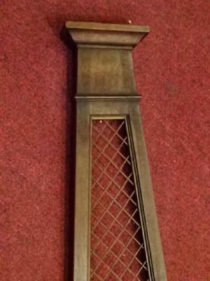 """Antique Wood Wall Planter with mesh details (28"""") 11"""