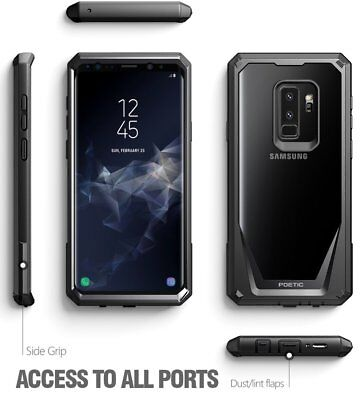 Galaxy Note 8 / S10e / S10 5G Case,Clear Hard Back Dual-Layer Shockproof Cover 3
