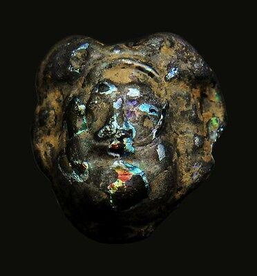 Aphrodite- Ancient Glass Applique Head Of A Female 2