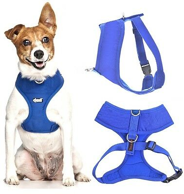 Padded Waterproof Adjustable Pet Puppy Dogs Non Pull Soft Vest Harness or Sets 3