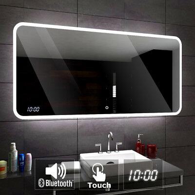 Miroir de Salle Avec éclairage DEL Interrupteur Station météo DEL montre haut-parleur l01