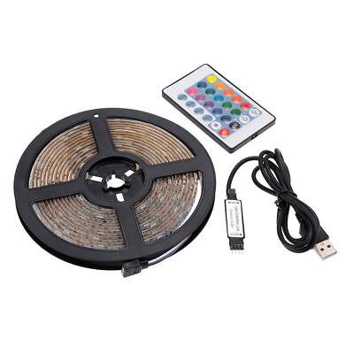 5V 1M-5M Usb Power Led Strip Lights Tv Back Rgb Colour Changing + Remote Control 9