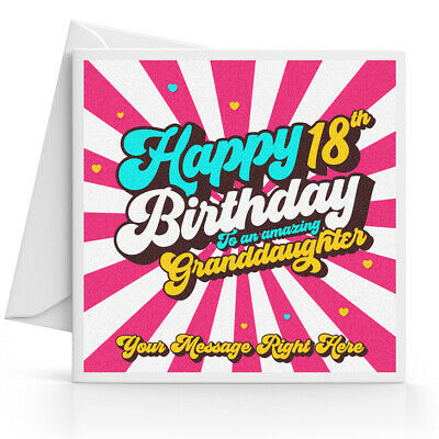 Personalised 18th Birthday Card Female Daughter Granddaughter Sister Niece 3