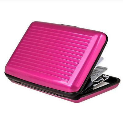 Waterproof Case Box Business ID Credit Card Wallet Holder Aluminum Metal Pocket 9