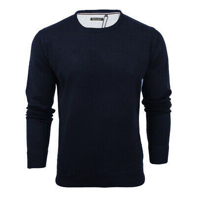 Mens Light Knitted Crew Neck Jumper Sweater Jersey Long Sleeve Brave Soul Parsec 5