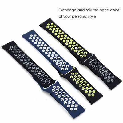 For Garmin vivoactive3 vivomove HR 20MM Silicone Replacement Watch Strap Band 5