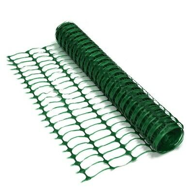 PLASTIC MESH BARRIER SAFETY FENCE Metal Steel Fencing Pins Netting Net Orange 1m 3