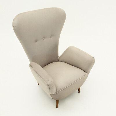 POLTRONA CON SCHIENALE alto anni \'50, mid century armchair ...