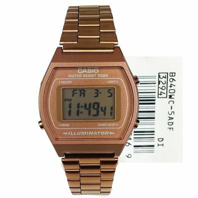 Casio Unisex Rose Gold Stainless Steel Digital Light Alarm Watch B640Wc-5Aef 3