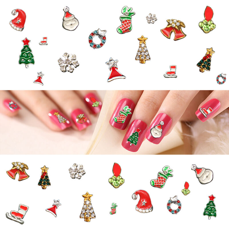 New Chic 10Pcs 3D Nail Art Glitter Decoration Colorful Alloy Rhinestones 4