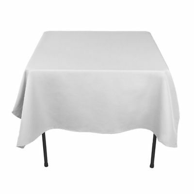 White Satin Tablecloth Table Cover Cloth Round Rectangular Square Wedding Decor 3