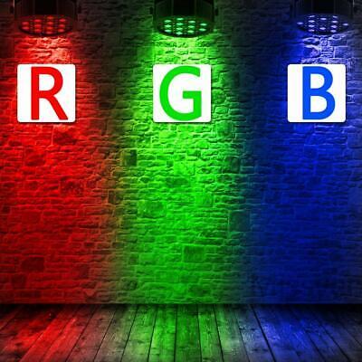 U`king 8PCS RGB 80W Stage Lighting DMX512 Par Can Color Mixing Party Wedding KTV 3