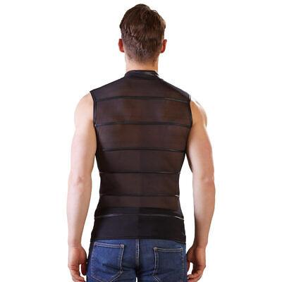 """Herren Shirt T-Shirt M L XL Powernet Stehkragen Zip Matt Reißverschluss """"Hector"""" 7"""