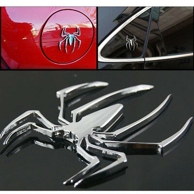 Emblem spider track 3D chrome car motor car decal sticker badge Silver E3L3