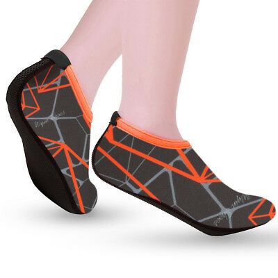Mens Womens Water Shoes Aqua Socks Beach Swim Wetsuit Shoes Non Slip UK Size 7