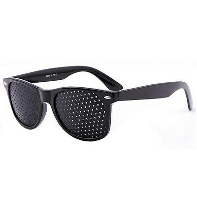 Fashion Vision Care Glasses Eyesight Improver Glasses Pinhole Glasses Black