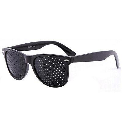 Fashion Vision Care Glasses Eyesight Improver Glasses Pinhole Glasses Black 3