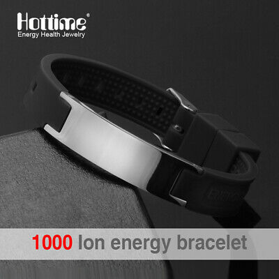 4Elements Titanium Steel Magnetic Far Therapy Negative Ions Bracelet Pain Relief 11