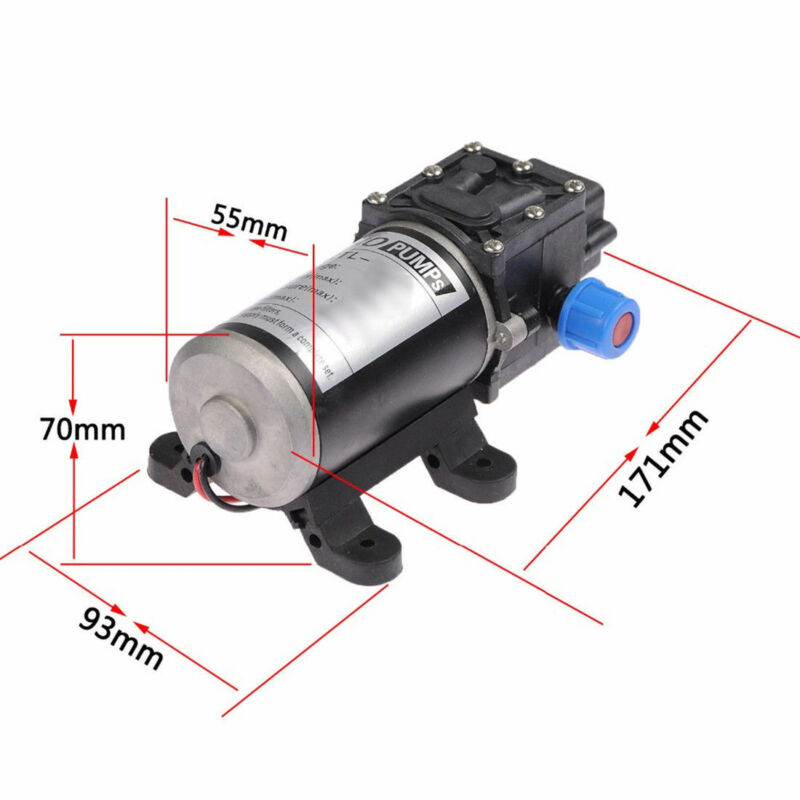 12V 100W Water Pump High Pressure 160PSI 8Lpm Self Priming Boat Caravan Camping 10