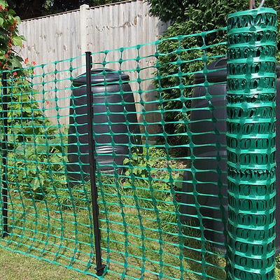 Black Plastic Mesh Barrier Safety Event Fence Netting 110gsm 1m high x 15m