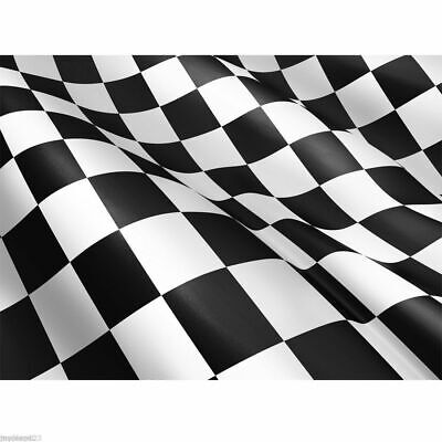 Giant Black & White Check Chequered Ska F1 Nascar Car Racing Flag Lewis Hamilton 8