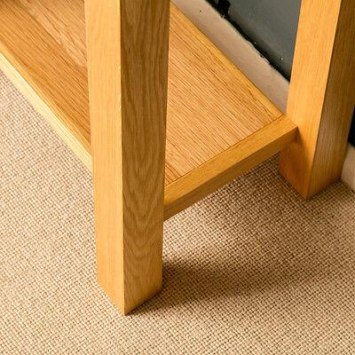 London Oak Small Hall Table / Telephone Table / Solid Wood Console / Light Oak 7