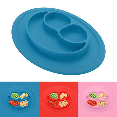 Cute Bowl Silicone Mat Baby Kids Child Suction Table Food Tray Placemat Plate 9