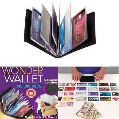Wallet Leather Slim Black Amazing Original Wonder Wallet As Seen On TV 2