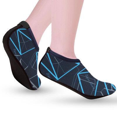 Mens Womens Water Shoes Aqua Socks Beach Swim Wetsuit Shoes Non Slip UK Size 8