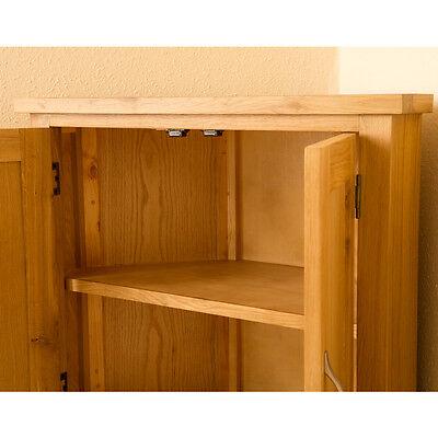 5 Of 7 Newlyn Oak Corner Cupboard Hand Crafted Modern Small Light