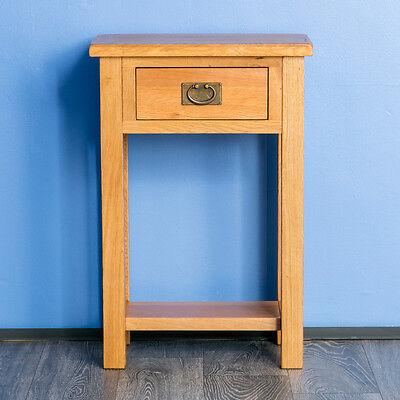 Surrey Oak Telephone Table Solid Hardwood Console
