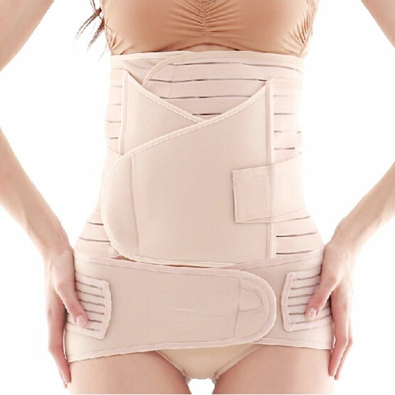 Postpartum Support Recovery Belly Waist Pelvis Belt Maternity Band 3 in 1 Shaper
